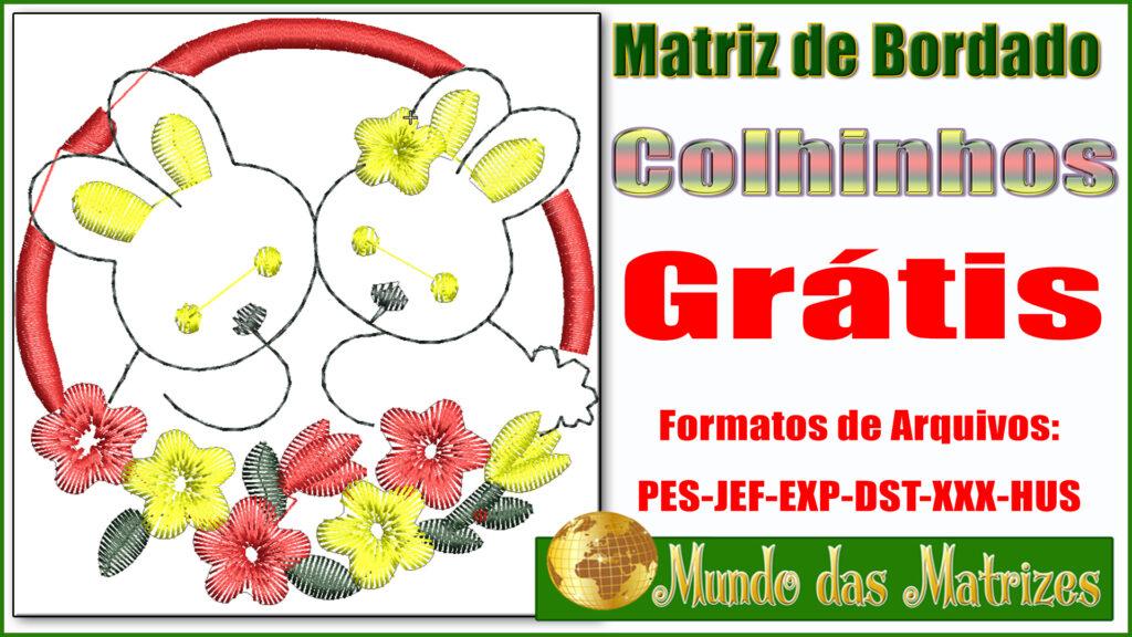 Matriz de bodados Grátis Coelhinhos da páscoa