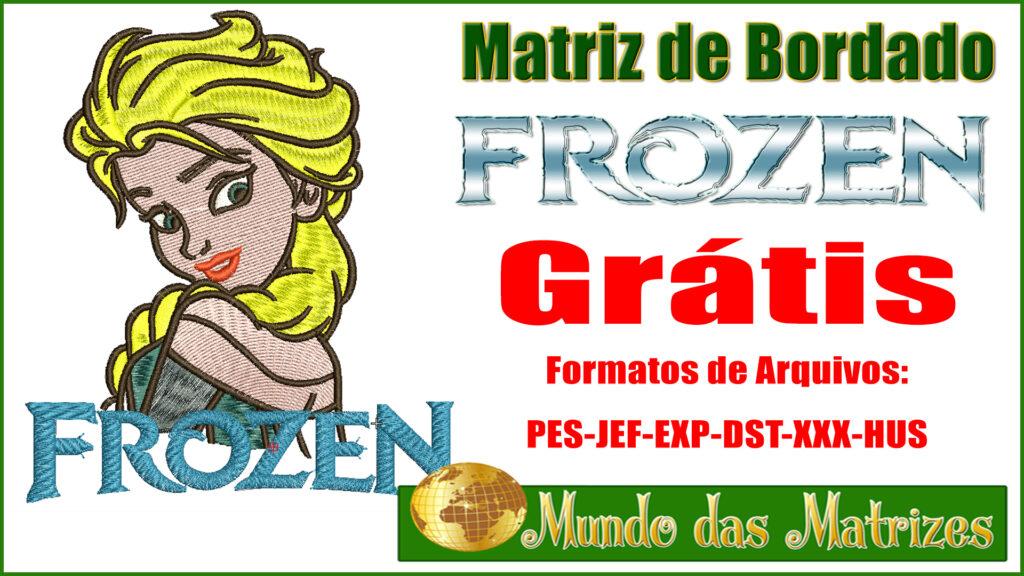 Matriz de bordado Grátis Frozen