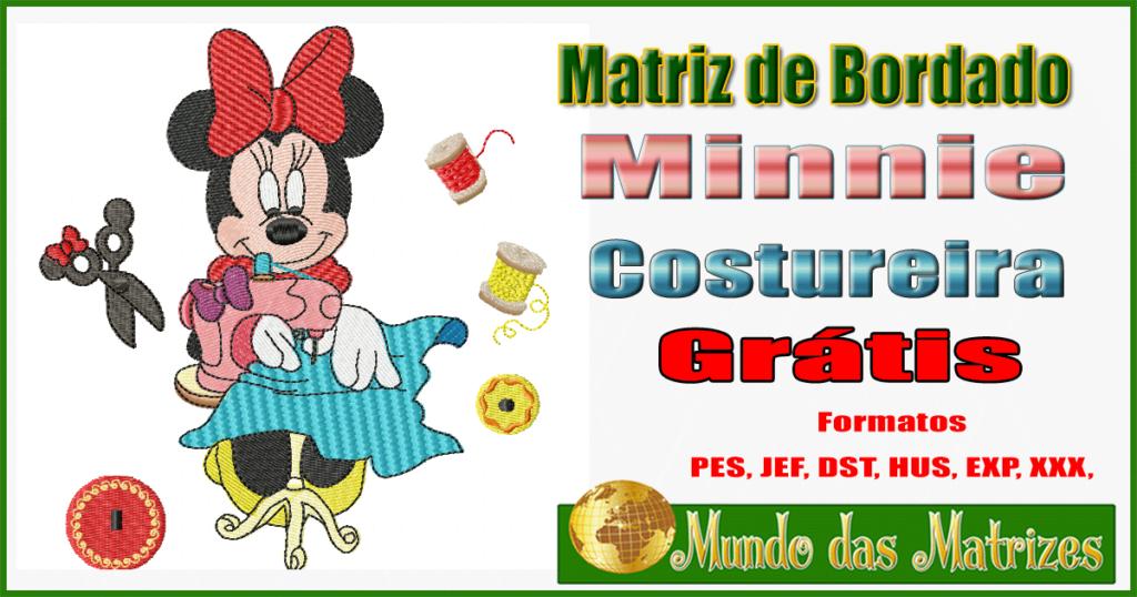 Matriz de bordado Grátis Minnie Costureira