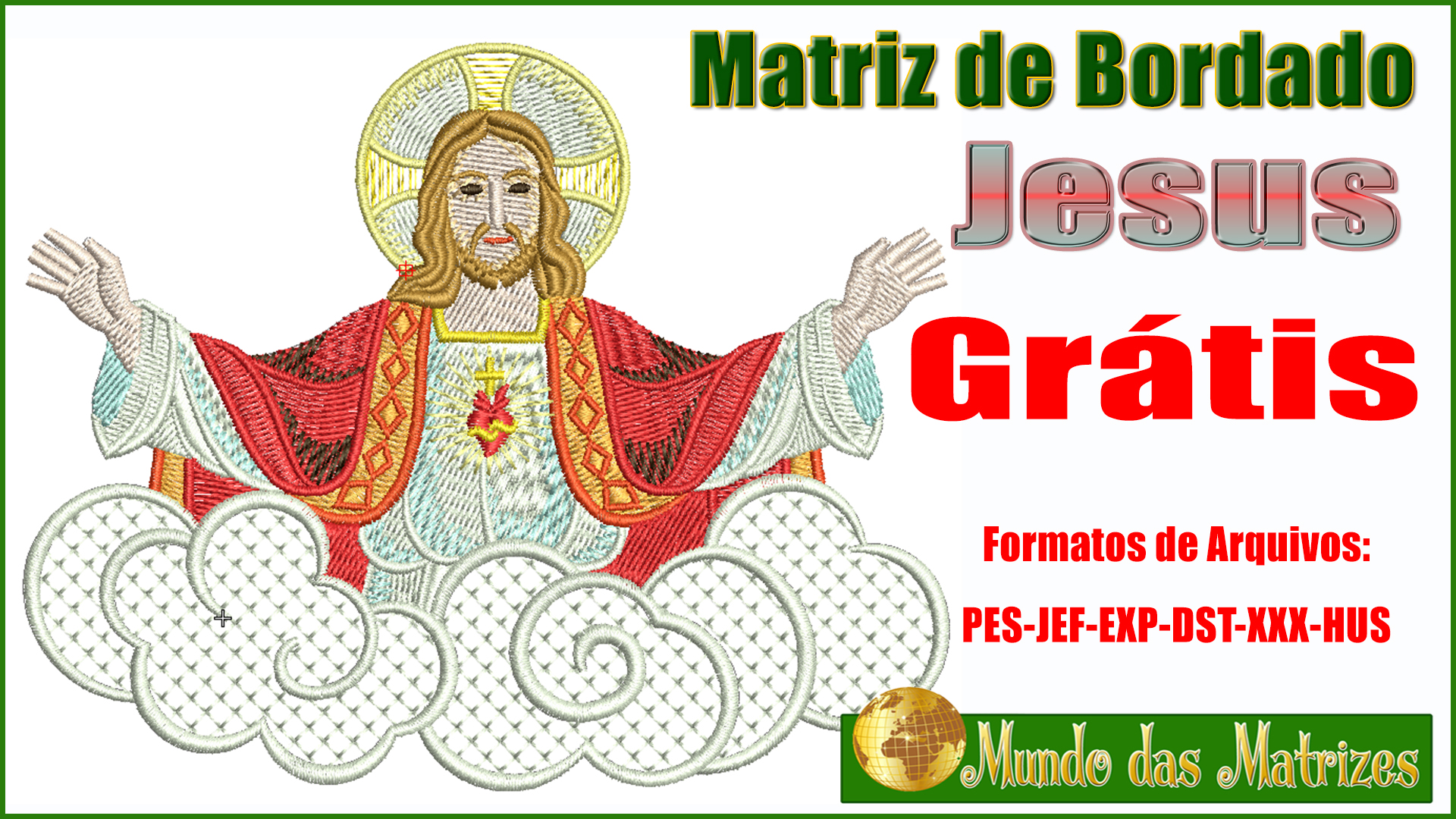 Matriz de bordado Jesus Cristo Grátis