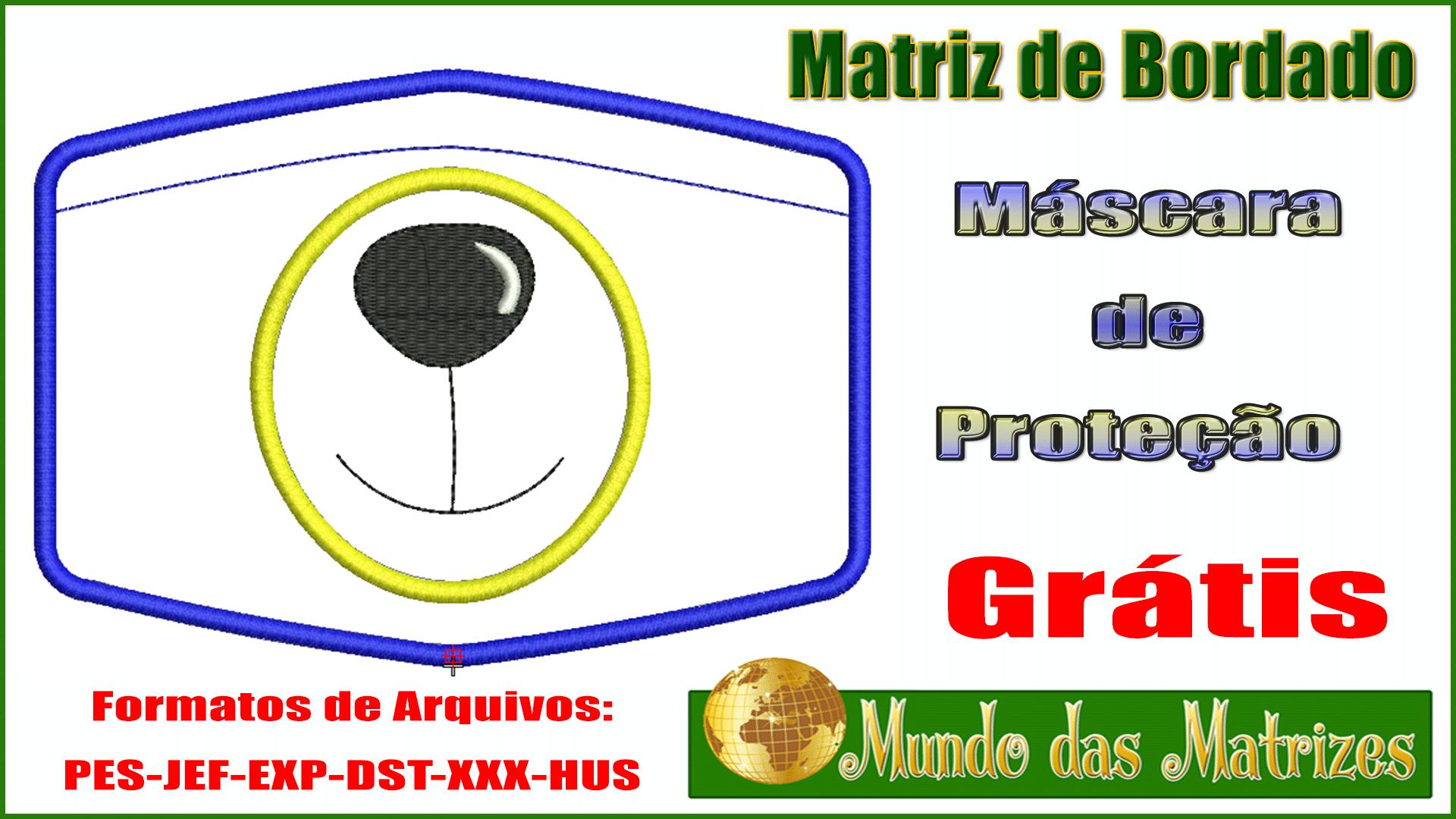Matriz de bordado Máscara de proteção Grátis