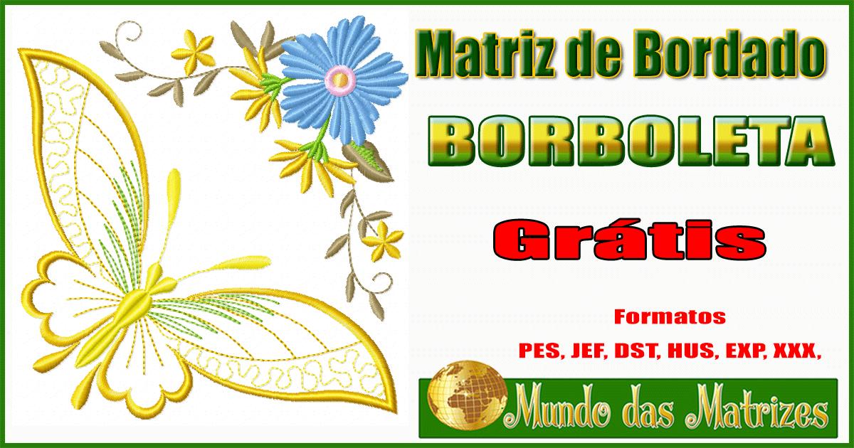 Matriz de bordado borboleta grátis