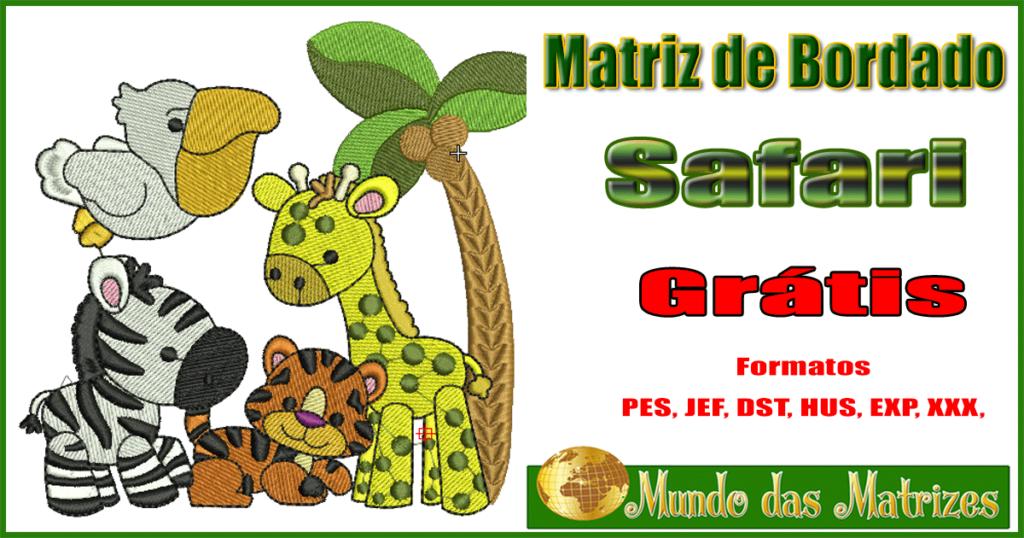 Matriz bordado Grátis Safari