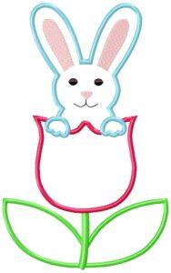 Bunny Tulip 8x12 Satin