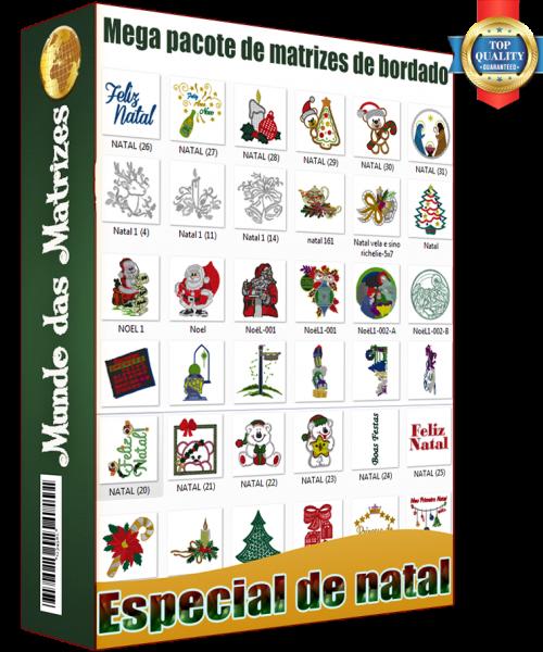 Mega Pacote De Matrizes De Bordado Especial De Natal